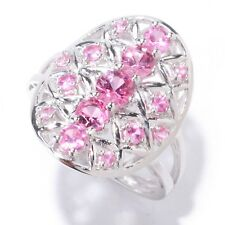 Sterling Silver 1.11ctw Pink Spinel Cocktail Ring, Size 7
