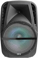 "QFX 12"" Bluetooth Portable Rechargeable  LED Party Speaker w/ AUX, Mic Input"