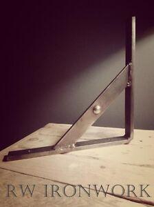 wrought iron shelf brackets (industrial look) (Handmade) 25cm £9 per bracket