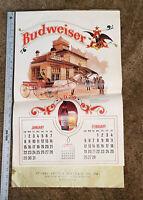 1978 BUDWEISER CALENDAR Anheuser Busch Brewery Carriages & Trucks Vintage & Rare