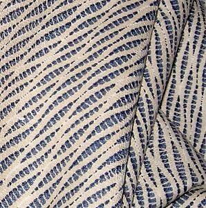 6.75 Yds Duralee 100% Cotton South Beach Blue Raffia Upholstery Drapery Fabric