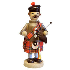 Standing Wooden Scottish Playing Bagpipes Incense Burner Smoker Made In Germany