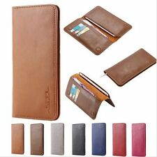 Universal Floveme Real Leather Card Slot Wallet Case Cover for iPhone Samsung LG