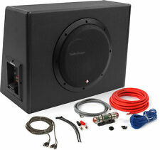 "Rockford Fosgate 300W RMS Single 10"" Amplified Subwoofer Enclosure w/ Amp Kit"