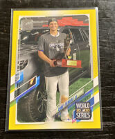 Corey Seager Walgreens Yellow WS MVP 2021 Topps Series 1 #198 Dodgers