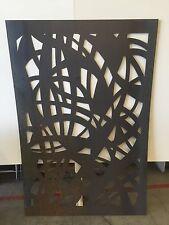 Decorative Garden Metal Fence Screen 'Misharcs 1800 X 900 Corten Steel