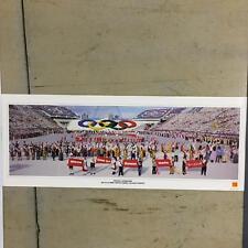 Galgary Alberta Canada 1988 Xv Opening Ceremonies Vintage Olympic Poster