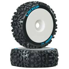 NEW Duratrax 1/8 Lockup Buggy Tire C2 Mounted White (2) DTXC3615