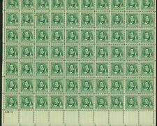 """#859-893 1940 1¢ - 10¢ """"FAMOUS AMERICANS"""" SHEETS SET CV $2,800 BU2951 HS115839 *"""