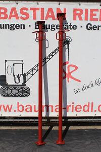 2 St. Stahlrohrstützen Stahlrohrstütze Sprieße Baustütze Teleskopstütze Schalung