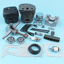 Engine Piston Cylinder Crankshaft Muffler Kit for Husqvarna 350 340 345 Chainsaw