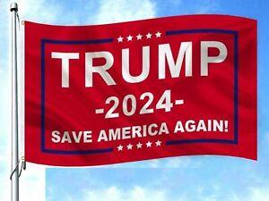 Save America Again Trump 2024 President Flag Donald MAGA Republican 3'x5'