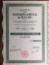 Vietnam Saïgon Plantation d'Hévéas de Xuan Loc Indochine Gigon Papin Notaire