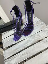 ASOS Office Spindle Purple Mirror Strappy Heeled Sandals (S0/5)