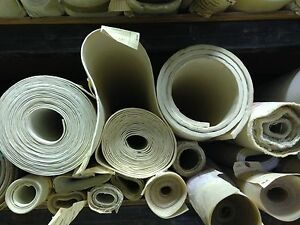 """Fiberglass Reinforced 36 x36"""" White Silicone Rubber Sheet 3/32"""" thick High Temp"""