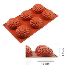 3*1.2 inch Food-Grade Silicone Pudding Chocolate Mold Cupcake 3D Baking Cake Pan