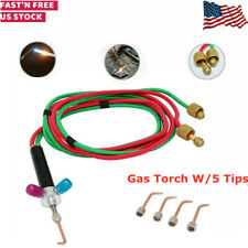 Jewelry Micro Mini Gas Little Torch Jewelers Welding Soldering Kit w/5 tips Hose