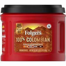 Folgers 100% Colombian Medium Roast Ground Coffee ( Lot of 2 Folgers 24.2 oz ea)