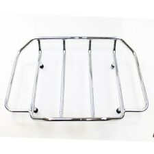 Chromed Tour Pak Pack Luggage Top Rack For Harley Touring Road King Street Glide