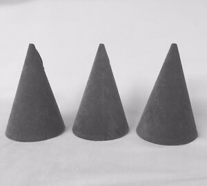 3 x Jewellery Display Bracelet / Bangle Cone in Ash Grey *Made in the UK*