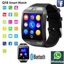 Bluetooth Q18 Smart Watch SIM TF Slot Camera Music Facebook  Sync Smartwatch