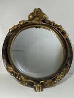 VTG Bombay Company Floral/Fruit Wall Mirror Gold Gilt Hollywood Regency Ornate