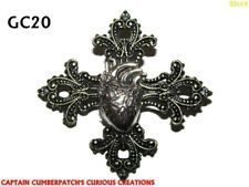 steampunk pin badge brooch gothic emo cross anatomical heart surgeon love #GC20