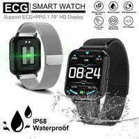 XGODY Smart Watch Fitness Tracker Heart Rate Monitor ECG PPG Wristband Bracelet