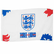 More details for england fa flag 5x3ft 3 lions crest official football gift