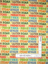 Dinosaur Stomp Prehistoric Words Yellow Cotton Fabric SPX Dino Might - Yard
