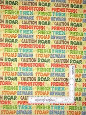 Dinosaur Stomp Prehistoric Words Yellow Cotton Fabric SPX Dino Might - Yard