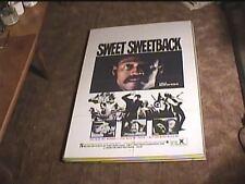 SWEET SWEETBACK 1971 ORIG MOVIE POSTER MELVIN VAN PEEBLES