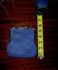 Evening Shoulder Purse Handbag COLORIFFICS Blue KISSLOCK CLASP Prom TRAVEL