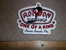 Ron Jon Surf Shop, Cocoa Beach, Fla. Decal