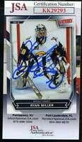 Ryan Miller JSA Coa Hand Signed 2007 Upper Deck Victory Autograph