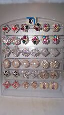 Joblot of 18Pairs Mixed Design Sparkly Diamante stud Earrings-NEW Wholesale lot1