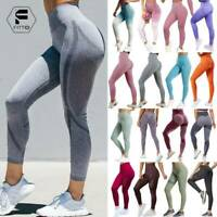 Women High Waist Vital Seamless Yoga Pants Fitness Gym Leggings Workout Trousers