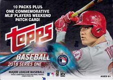 2018 Topps Series 1 Baseball sealed blaster box 10 packs of 10 MLB cards