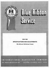 Farmall 756 Gas LPG D 856 Gas LPG D 1256 D Specifications Service Manual