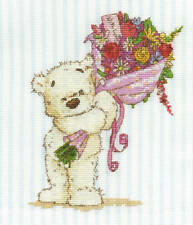 DMC Cross Stitch Kit - Lickle Ted - With A Lickle Affection