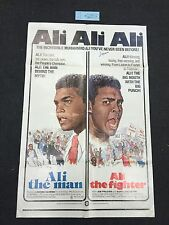 RARE SIGNED MUHAMMAD ALI THE MAN, ALI THE FIGHTER DOCUMENTARY MOVIE POSTER '