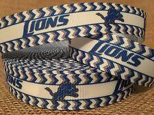 "1 Yard 7/8"" Detroit Lions Grosgrain Ribbon"