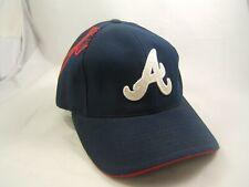 Atlanta Braves Logo Athletic Puma Hat Dark Blue Hook Loop MLB Baseball Cap