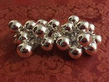 Lot of 24 Christmas Tree/Wreath 25mm SILVER Glass Ball Ornament Floral Picks