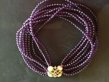 Beautiful VTG Forever Violet Necklace Elizabeth Taylor for Avon 1994