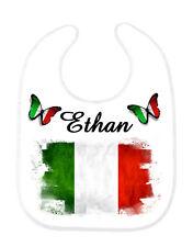 Bavoir bébé Italie personnalisé avec prénom