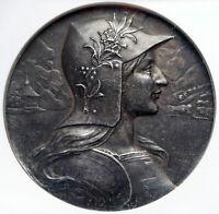 1901 SWITZERLAND Luzern ANTIQUE SHOOTING FESTIVAL Swiss Silver Medal NGC i85272
