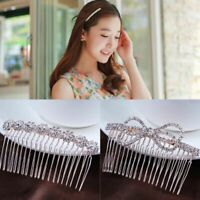 Crystal Hair Combs Rhinestone Hair Clips Love Shaped Crown Butterfly Hairpins