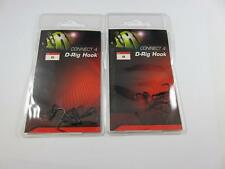 2 PACKS OF JRC CONNECT 4 D RIG SIZE 8 CARP HOOKS MICRO BARBED