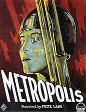 """""""METROPOLIS (Fritz LANG 1927)"""" Diapositive de presse originale (Affiche du film)"""